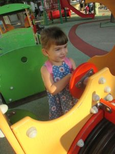 The playground train